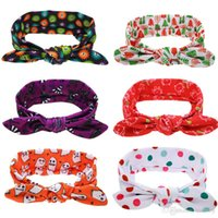 Wholesale twist knot headwrap - Baby Girls Headbands Polka Dot Turban Twist Knot Headbands Kids Elastic Cotton Holiday Hairbands Children Headwrap Hair Accessories KHA123