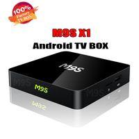 cajas de tv andriod al por mayor-2018 M9S X1 1G + 8G Andriod Tv Box S905X Quad-Core Smart Ott Tv Box Android 6.0 HDMI 4K 3D Streaming Media Player MEJOR X96 TX3 MINI S905W