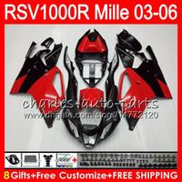 Wholesale aprilia rsv black fairing for sale - Group buy Body For Aprilia RSV1000RR Mille RSV1000R HM RSV R RSV R RSV1000 R Fairing kit Gloss Red black
