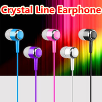 Wholesale tablet jack for sale - Group buy Universal Crystal Line Earphone mm Jack inner Earphones headphone earbuds for iphone samsung htc android phone mp3 tablet pc