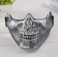 Wholesale white beanies for sale for sale - Group buy Lower Half Face Skull Horror Mask For Men Halloween Party Carnival CS Mask Multi Color Hot Sale NNA256