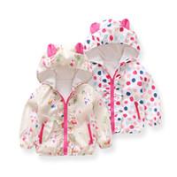 venda casaco coreano venda por atacado-Casaco de bebê Venda Nova Loja 2018 Meninas Casaco Outono Versão Coreana Da Menina Dos Desenhos Animados Com Capuz Zipper Criança Manga