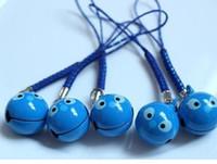 ücretsiz cep telefonu yüzükleri toptan satış-10 adet Cep Telefonu Askı Charm Karikatür dikiş kafa Anahtarlıklar Jingle Bells Anahtarlık, Ücretsiz Kargo
