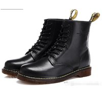Wholesale women lace up combat boots - DR MARTENSS Unisex Leather Martin Boots Vintage Combat Boot Hiking Sports Shoes Women Flat-Bottomed Casual Martin Ankle Boots 1460 8 EYE