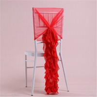 Wholesale chair protectors covers for sale - Group buy New Arrival Seat Cover Chiffon Convenient Reusable Chair Covers Colorful Protector Slipcovers Hotel Banquet Home Wedding Decoration xm jj