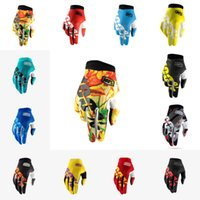 Wholesale mens gloves xl - Thin Off-Road Motorcycle Gloves Breathable Racing Riding Protective Gear Gloves Outdoor Mens Cycling Bicycle Full Finger Gloves Gear H523F