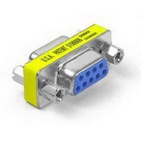 Wholesale Gender Changer Adapter - Wholesale- 9 Pin Female to Female Serial Gender Changer Adapter RS232 Connector