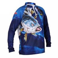xxxxl gratis al por mayor-Ropa de pesca Manga larga L XL XXL XXXL XXXXL Verano de secado rápido Transpirable Anti-UV Protección solar T Shirt Envío gratis