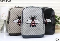 Wholesale little backpacks for girls - 2018 New arrival men women's Backpack LITTLE BEE Sport Backpack for women men girls Trend all-match fashion bags G1
