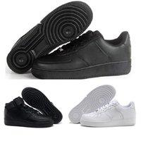коричневый цвет обуви оптовых-Nike Air Force 1 2018 Высококачественная мода для мужчин CORK Women One 1 Кроссовки с высоким низким разрезом Все белые черные коричневые цветные повседневные кроссовки Размер 36-46