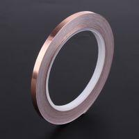Wholesale electronics components online - 6mm m Single Side Conductive Copper Foil Tape Strip Adhesive EMI Shielding Heat Resist Tape for Electronic Components Barrier