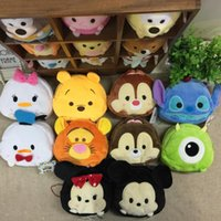 Wholesale tsum plush - 2018 Sale Zipper Necessaire Organizer Tsum Mike Fuzzy Plush Handbag Makeup Bag Cosmetic Money Coin Card Bags New