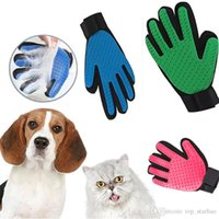 Wholesale cleaning animals - Silicone Pet Animal grooming Gloves Brush Glove Dog Cat Hair Grooming Tool Rubber Massage Cleaning Bath Glove For Dog Cat Horse XTY7