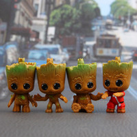 Wholesale car actions online - 4Pcs set Action Figures Guardians of The Galaxy Toy Figures Birthday Gift Toysand The Car Decoration Toy DDA350