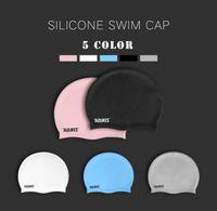 Wholesale waterproof swim caps - Necessity silicone cap adult waterproof men's and women's swim cap ear protection.Beach Pool Aqua Protective Equipment Essentials