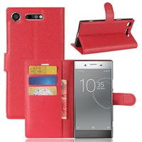 Wholesale z5 premium case for sale - Litchi Flip PU Leather Wallet Case With Card Slots Stand Holder For SONY X Performance Z5 Premium C5 XA Ultra XZ XA1 XZ1 Compact XA2 L2