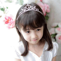 Wholesale girl ornaments - Princess Crown Hair Ornaments Metal Crystal Headbands Child Tiaras Hairbands Girls High Quality Hair Accessories Hair Band Christmas gift