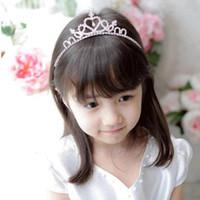 metall stirnbänder für mädchen großhandel-Prinzessin Crown Haarschmuck Metall Kristall Stirnbänder Kind Tiaras Hairbands Mädchen Hohe Qualität Haarschmuck Haarband Weihnachtsgeschenk