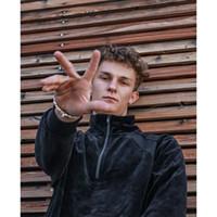 kadife hoodies toptan satış-18FW Kutusu Logosu x Timsah Kadife Kadife Kazak Erkekler Kadınlar Nakış Kıyafet Moda Rahat Sokak Dış Giyim Katı Hoodies HFTTJK055