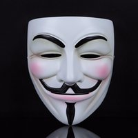 Wholesale vendetta cosplay online - V For Vendetta Mask Black Yellow Guy Fawkes Mask Cosplay Costume V For Vendetta Mask Anonymous Movie Guy Fawkes TC181007