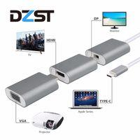 Wholesale mini usb vga adapter - USB C Multiport Hub to HDMI VGA Mini DP+Mini DP to HDMI+HDMI VGA Aluminum 6 in 1 Type C Adapter Converter For MacBook Pro