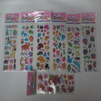 pegatina del zoo al por mayor-100 unids / lote Animales Zoo 3D Pegatinas Marca de Moda Niños Juguetes de Dibujos Animados Lindo niños niñas muchachos pegatinas de PVC Pegatinas de Burbujas