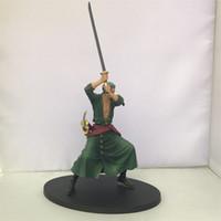ingrosso figurina pvc di un pezzo-Comic Periphery Garage Kit One Piece Swordsmen Roronoa Zoro Action PVC Figure Giocattoli Figurine Kid Model Toy 20yc WW