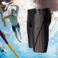 Wholesale hot swimwear men online - And Hot Sale Shark Water Repellent Men S Long Racing Swimming Swim Trunks Sport Shorts Classic Men Swimwear