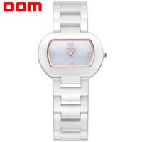 водонепроницаемые часы оптовых-Оптовая керамические кварцевые женские часы повседневная мода площади водонепроницаемый женские часы T-576-7M