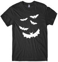 ingrosso camicia dei pipistrelli-T-shirt da uomo Halloween Flying Bats Design