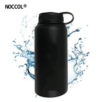 Wholesale Hand Warmers Electric - NOCCOL 32oz Black Vacuum Water Bottle Eco Friendly Outdoor Insulation Stainless Steel Drink Flask Camping Kettle Large Capacity