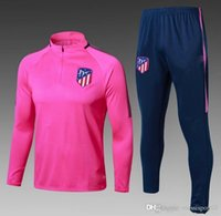 Wholesale Men Training Jacket - HOT 17 18 Atletico tracksuit soccer Training suit soccer wear aduit 2017 2018 GRIEZMANN F TORRES KOKE Madrid football jacket sets
