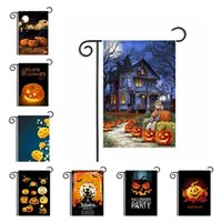 Wholesale owls decorations party for sale - Group buy Newest Halloween American style Garden Flags Pumpkin Owl Flags Hanging outdoor Flags Party Decorations supplies IA667