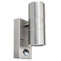 abajo luces inoxidables al por mayor-Luces de pared del sensor de movimiento de inducción Arriba / Abajo o solo acero inoxidable al aire libre