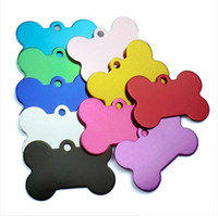 Wholesale pet id cards resale online - Puppy Mental Tag Pet dog Metal Blank Military Pet Dog ID Card Tags Aluminum Alloy Army Dog Tags No Chain XL