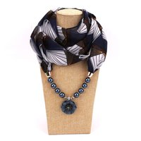 Wholesale pearl pendant neck for sale - Group buy 17 Colors Spring Summer Women Scarf Fahion Chiffon Pearl Pendant Neck Scarf Collar Scarves Clothing Collocation Small Silk