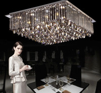 Wholesale brilliant steel - New design ! Modern brilliant generous led segmented dimmable chandelier ceiling light fixture , indoor square crystal ceiling light LLFA