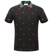 Wholesale Polka Dot Shirts For Men - 2018 New Men's G***I short sleeves polo shirt T-shirt Embroidery Polo Shirt For Men luxury Polo Men Cotton Short Sleeve shirt