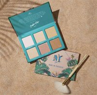 Wholesale eyeshadow without for sale - Group buy New Bretmen Babe In Paradise Colors Eyeshadow Palette Makeup Highlight bronzer glow contour Palette without brush