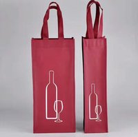 bags for wine bottles NZ - Portable Non-woven Fabric Red Wine Storage Bag For One Double Bottles Wine Package Gift Party Packing Handbags