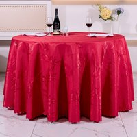 Wholesale hotel round table - Wholesale 6 Colors Polyster Round Table 160~320cm Cloth Hotel Blanket Home Decor Wedding Party Decoration Banquet Kitchen Accessories