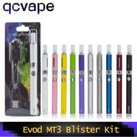kits de inicio de cigarrillos evod al por mayor-Evod MT3 Blister Starter Kits E-cigarette kit mt3 tanques EVOD atomizador Clearomizer 650/900 / 1100mah Evod Battery