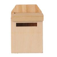 ingrosso fate in vendita in miniatura-ABWE Best Sale 1/12 Wooden Mailbox Dollhouse Miniature Fairy Garden Decor Colore di legno