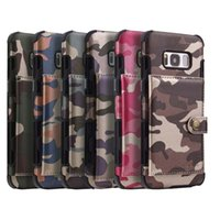 Wholesale cellphone cases wallet purse for sale – best Camouflage Army Camo Cellphone Case For Samsung Galaxy S8 Plus S9 Card Holder PU Leather Back Cover For Galaxy S9 Plus Note Purse