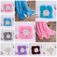 Wholesale wedding fleece resale online - Fleece Blankets cm Fluffy Plush Throw Blanket double faced pile Air Conditioning Blanket Wedding Bedspreads Bedding GGA1243
