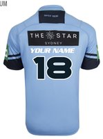 Wholesale wales rugby jersey - 2017 NSW Blues State Of Origin jerseys 2016 New South Wales Blues NSW BLUES 2017 PREMIUM JERSEY shirts size S-4XL-5XL (Can print)