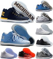 Wholesale California Leather - 2018 New Arrival Retro XXXI Low California Michigan George 31s Basketball Shoes for Mens Top Quality Retro 31 Training Sports Sneakers