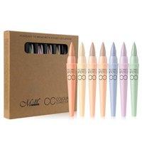 menow kutusu toptan satış-Menow Marka 6 Renkler / set CC Kapatıcı Nokta Çıkarma aydınlatın Kapatıcı Krem Onarım Kalem Doğal Kozmetik