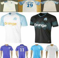 Wholesale marseille football jersey - 2018 2019 Olympique de Marseille Soccer Jersey OM Marseille Maillot De Foot 19 L.GUSTAVO PAYET THAUVIN 18 19 Marseille Custom Football Shirt