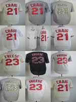 Wholesale camo baseball online - Factory Outlet Mens Womens Kids Toddlers St Louis Allen Craig David Freese Beige Grey Camo White Black Best Quality Baseball Jerseys